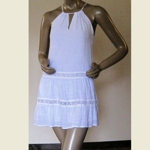 Charlotte Russe Women's Dress White Baby Doll XS